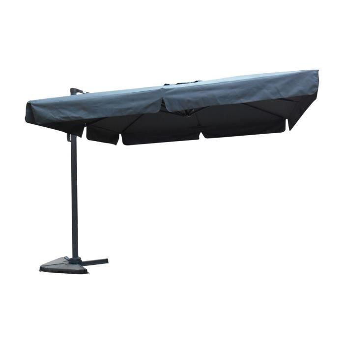 parasol d port carr avec flap db06 gris achat vente parasol parasol d port carr avec. Black Bedroom Furniture Sets. Home Design Ideas