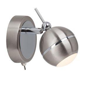 COMB Spot pat?re LED 4W avec interrupteur argenté et chromé