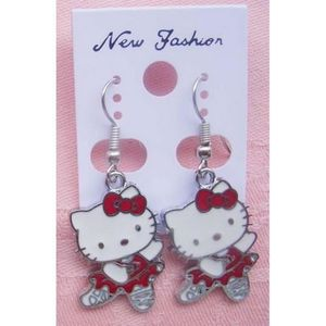 Boucle d oreille hello kitty achat vente pas cher cdiscount - Hello kitty danseuse ...