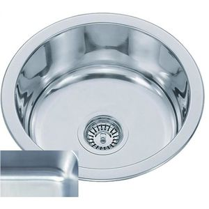 Evier rond inox achat vente evier rond inox pas cher cdiscount - Bac evier inox encastrable ...