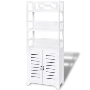 MEUBLE BAS COMMODE SDB Meuble armoire pour salle de bain blanc