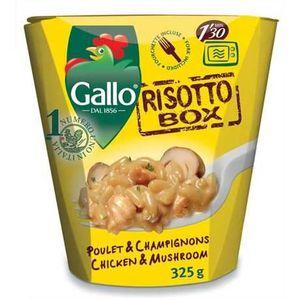 RIZ GALLO Risotto Box poulet champignons, 325 Gr