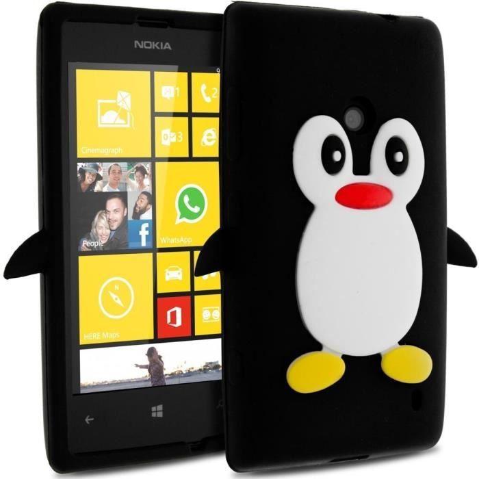 Coque pingouin en silicone pour nokia lumia 520 achat housse tui pas cher avis et meilleur - Silicone pour moulage pas cher ...