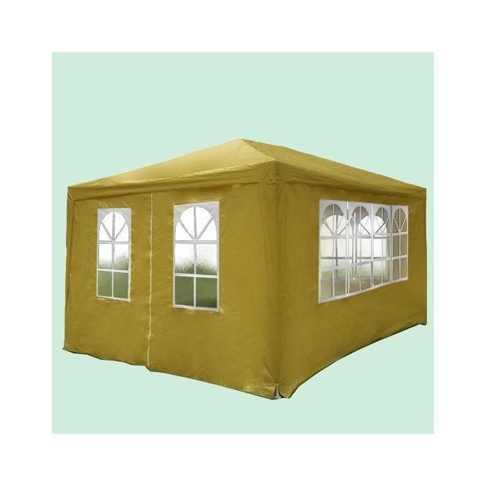 tonnelle 3m sur 4m avec rideaux beige achat vente. Black Bedroom Furniture Sets. Home Design Ideas