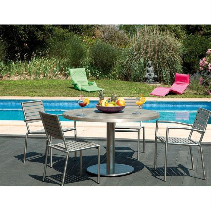 Grande table ronde de jardin deco yachting achat vente - Grande table ronde de jardin ...