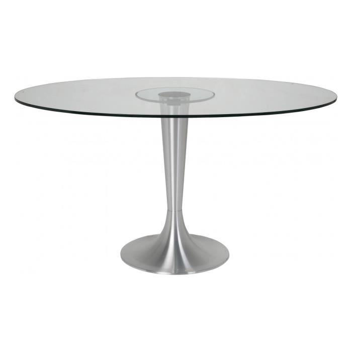table verre ovale. Black Bedroom Furniture Sets. Home Design Ideas