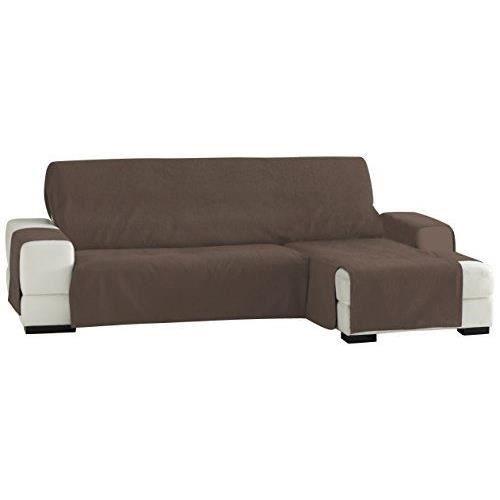 eysa f3331917d zoco chaise longue droite vue frontale brun 240 cm achat vente chaise longue. Black Bedroom Furniture Sets. Home Design Ideas