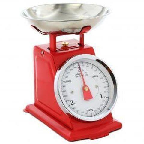 Balance de cuisine m canique rouge 115125 achat - Balance mecanique cuisine ...