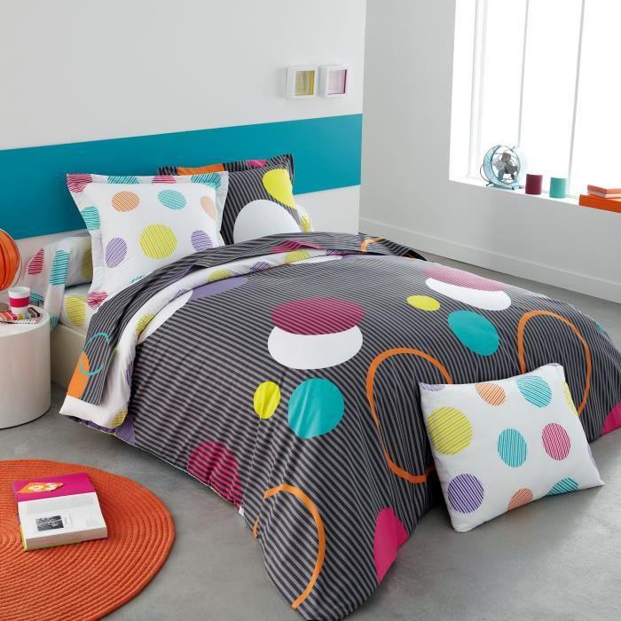 origin jo housse de couette jo 200 x 200 cm achat vente housse de couet. Black Bedroom Furniture Sets. Home Design Ideas