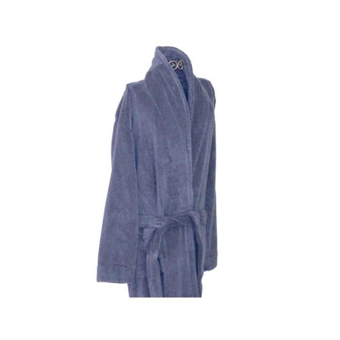 Peignoir ponge homme 100 coton bleu taille xl achat vente peignoir cdiscount for Peignoir eponge homme