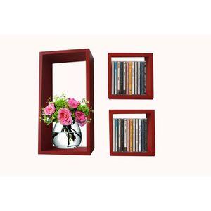 Cube murale rouge achat vente cube murale rouge pas - Etagere murale pour cd ...