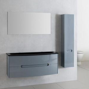 Meuble salle de bain gris achat vente meuble salle de - Meuble salle de bain gris clair ...