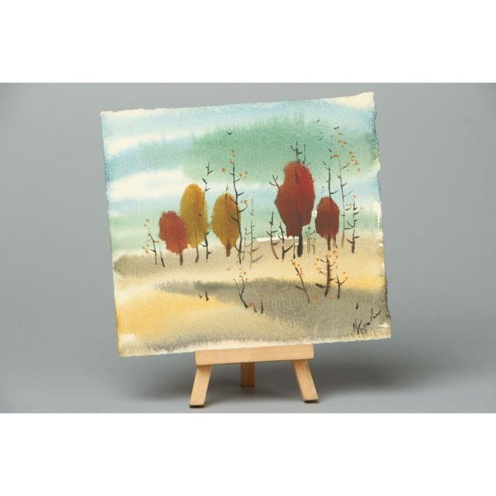 tableau l 39 aquarelle automne transparent fait main achat vente tableau toile cdiscount. Black Bedroom Furniture Sets. Home Design Ideas