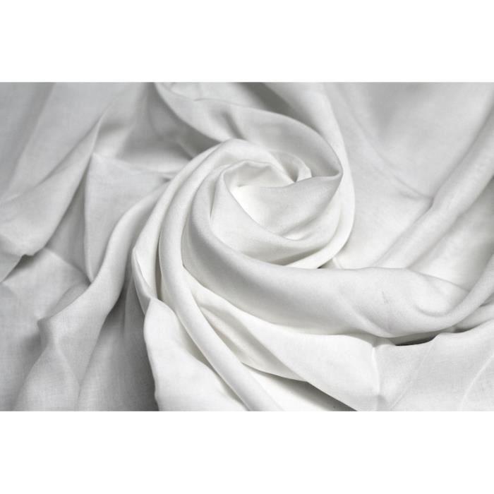 Tissu voile uni 100 viscose ecru au m tre achat vente tissu tissu voile uni 100 viscose - Voile de forcage au metre ...