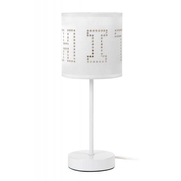 Lampe à poser design Perfo - Blanc - Achat / Vente Lampe à poser ...