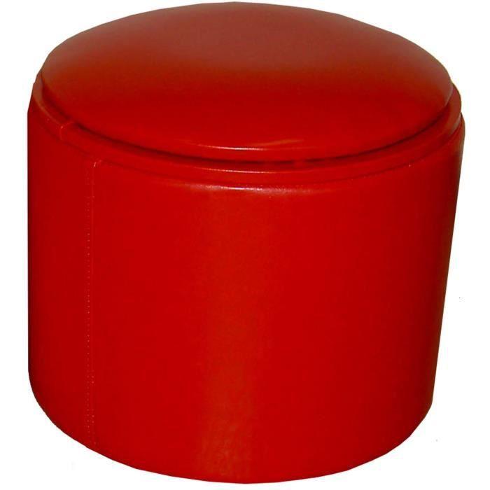 pouf reverso rouge avec coffre 35x30 cm achat vente pouf poire bois panneaux de. Black Bedroom Furniture Sets. Home Design Ideas