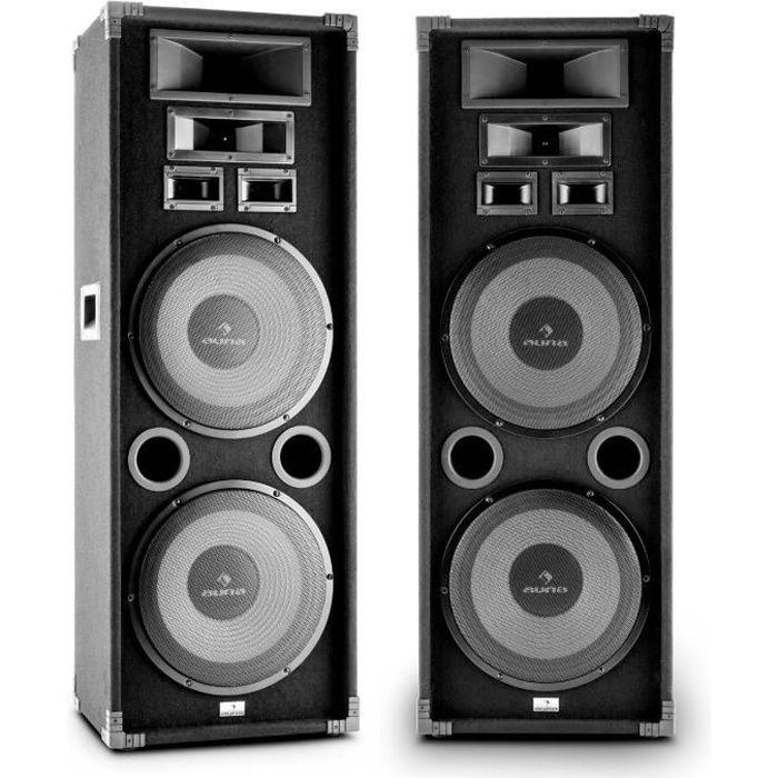 auna pa 2200 paire d 39 enceintes de sonorisation pa full range avec 2 x subwoofer 12 2000w. Black Bedroom Furniture Sets. Home Design Ideas
