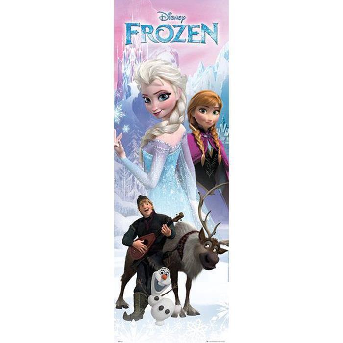poster pour porte la reine des neiges anna et elsa achat. Black Bedroom Furniture Sets. Home Design Ideas