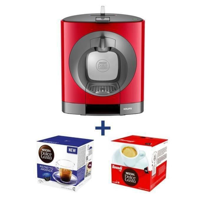 Dolce gusto krups oblo rouge offre caf achat vente machine expresso cdiscount - Dolce gusto oblo rouge ...