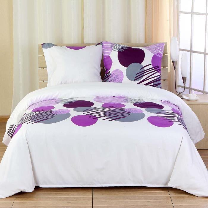 housse de couette bulles 220x240 cm 2 taies achat. Black Bedroom Furniture Sets. Home Design Ideas