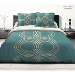 parure drap plat 220x290 cm drap housse 140x190 cm 2 taies d oreiller flanelle osiris bleu. Black Bedroom Furniture Sets. Home Design Ideas
