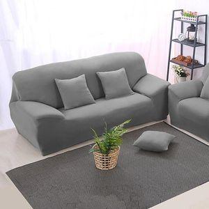 housse de canape gris achat vente housse de canape gris pas cher cdiscount. Black Bedroom Furniture Sets. Home Design Ideas
