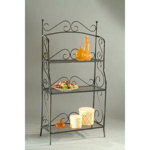 etagere dore achat vente etagere dore pas cher les soldes sur cdiscount cdiscount. Black Bedroom Furniture Sets. Home Design Ideas