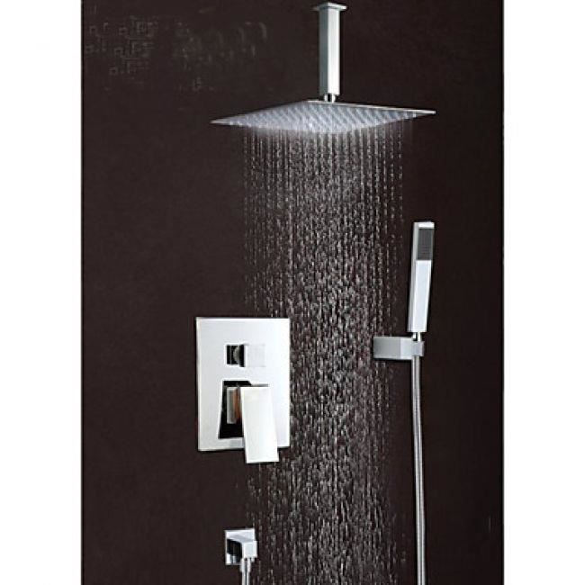 Lookshop robinet de douche avec douchette de pluie et pommeau de douche ac - Douche pommeau pluie ...