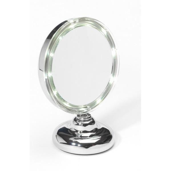 Miroir grossissant ellepi a led x 5 gm achat vente for Miroir de poche mirrorbook air