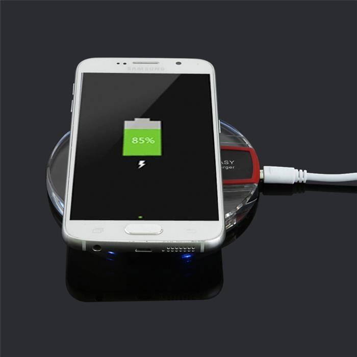 chargeur induction sans fil noir et transparent pour iphone achat chargeur t l phone pas cher. Black Bedroom Furniture Sets. Home Design Ideas