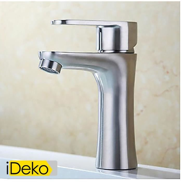 ideko robinet mitigeur lavabo contemporaine salle de bains lavabo vanit robinet d 39 vier en. Black Bedroom Furniture Sets. Home Design Ideas