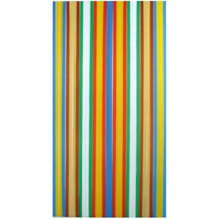 rideau de porte lani re antilles morel 100x220cm m achat vente rideau de porte poly thyl ne. Black Bedroom Furniture Sets. Home Design Ideas