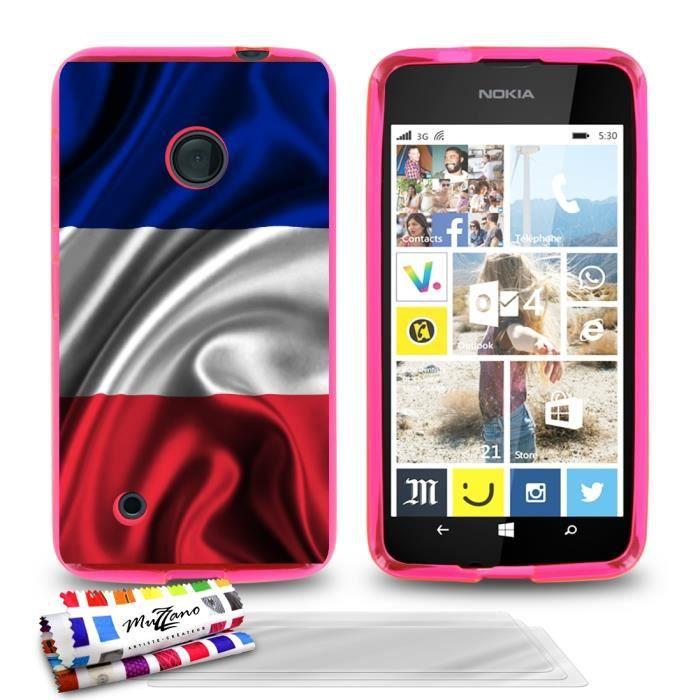 telephonie accessoires portable gsm coque souple rose pour nokia lumia  motif dr f muz