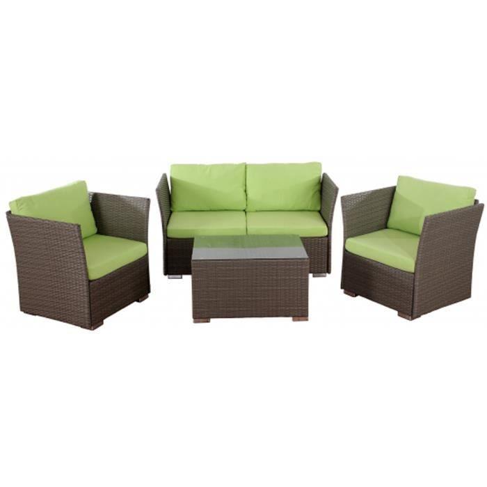 canap de jardin siena de 4 pi ces 3 fauteuils avec. Black Bedroom Furniture Sets. Home Design Ideas