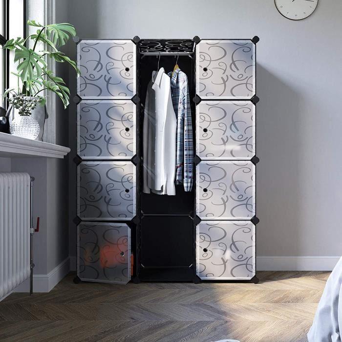 songmics diy armoire penderie cubes tag re de rangement. Black Bedroom Furniture Sets. Home Design Ideas