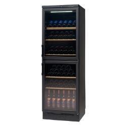 Vinispace pro double porte noire166 achat vente cave vin cdiscount - Cave a vin double porte ...