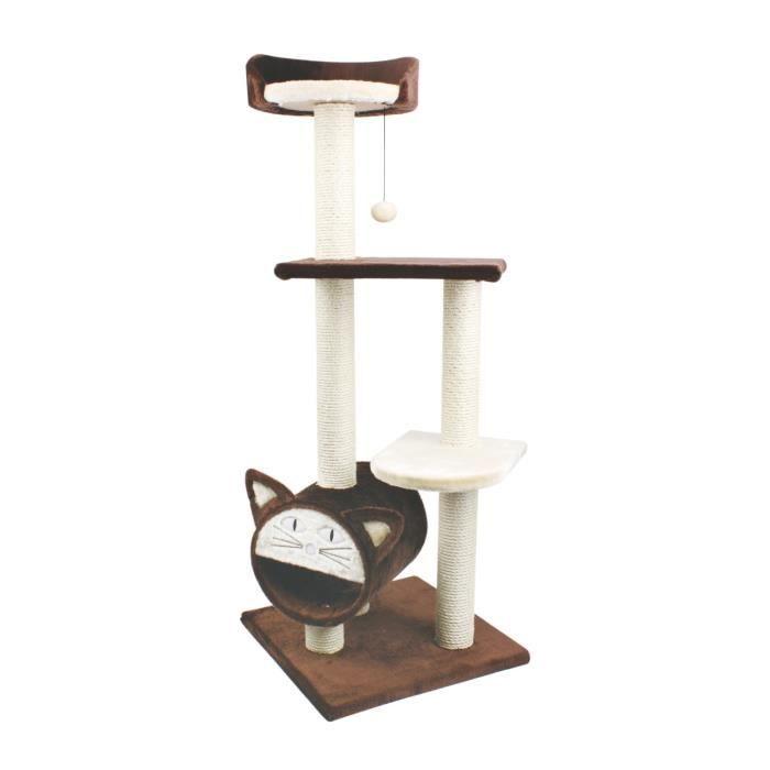 arbre chat avec cachette 45x45x119 cm achat vente arbre chat arbre chat avec cachette. Black Bedroom Furniture Sets. Home Design Ideas