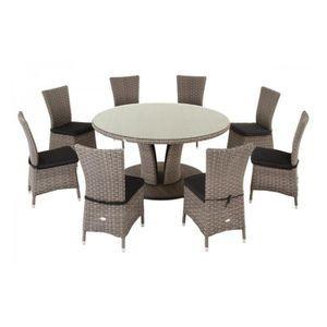 table de jardin ronde achat vente pas cher les soldes sur cdiscount cdiscount. Black Bedroom Furniture Sets. Home Design Ideas
