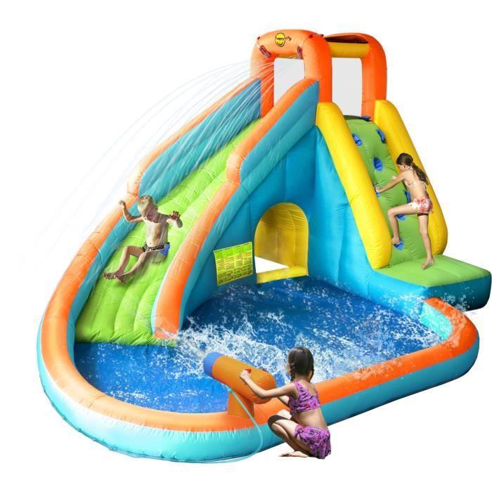 happy hop ch teau aire de jeux gonflable aquatique avec piscine achat vente aire de jeux. Black Bedroom Furniture Sets. Home Design Ideas