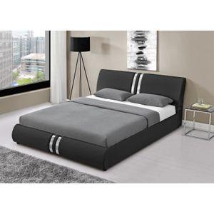 lit 180x200 achat vente lit 180x200 pas cher les soldes sur cdiscount cdiscount. Black Bedroom Furniture Sets. Home Design Ideas