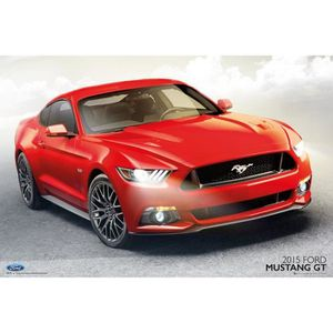 poster ford mustang achat vente poster ford mustang pas cher soldes cdiscount. Black Bedroom Furniture Sets. Home Design Ideas