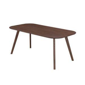Table a manger plateau blanc pieds bois achat vente - Taille table 8 personnes ...