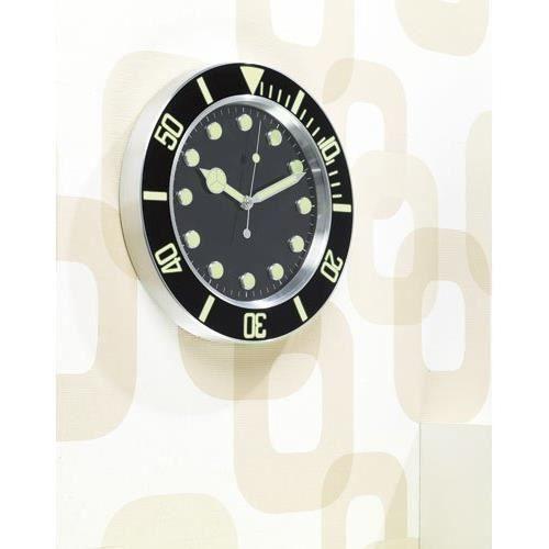 Horloge murale radio pilot e design sport r tro achat - Horloge murale led bleue ...