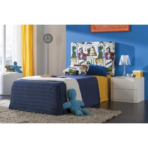 t te de lit capitonn e mod le comic achat vente t te de lit t te de lit capitonn e mo. Black Bedroom Furniture Sets. Home Design Ideas