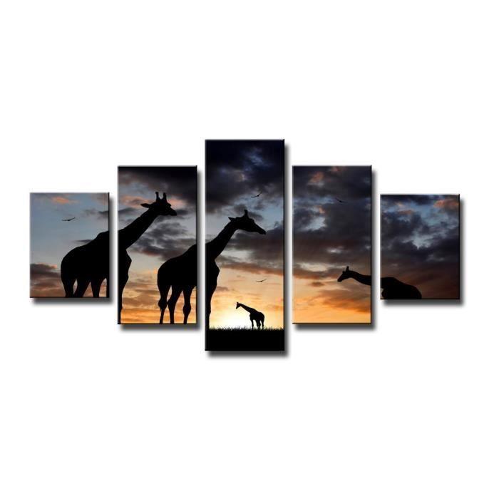 Tableau moderne imprim 160x80 cm girafes achat - Tableau imprime sur verre ...