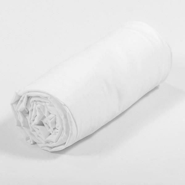 finlandek drap housse hilja 180x200 cm blanc achat vente drap housse soldes cdiscount. Black Bedroom Furniture Sets. Home Design Ideas