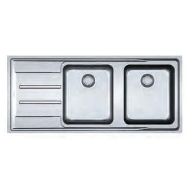 Evier 2 bacs aton microdekor 758180 franke achat vente for Evier franke inox microdekor