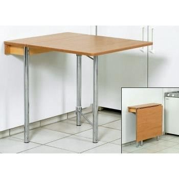 Table cuisine rabattable murale table cuisine rabattable for Petite table rabattable
