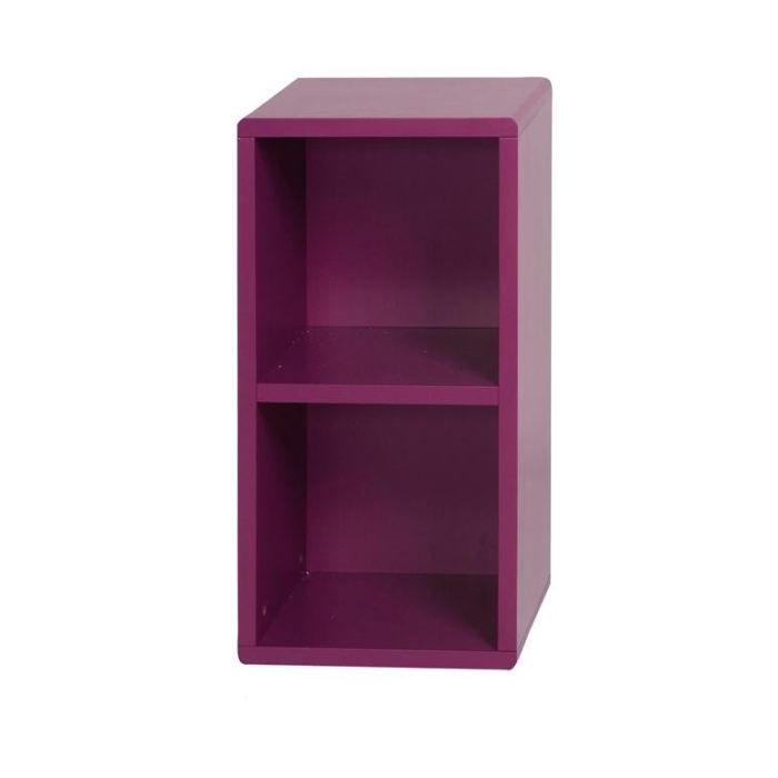 Cube de rangement 2 cases violet id 39 clik achat vente for Cube de rangement modulable fly