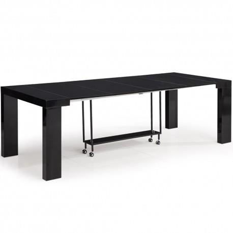 Console extensible en table blanche lipso pas cher priceminister pictures to - Table en pin pas cher ...